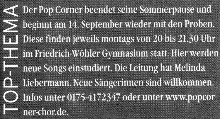 Singener Wochenblatt vom 14. November 2007